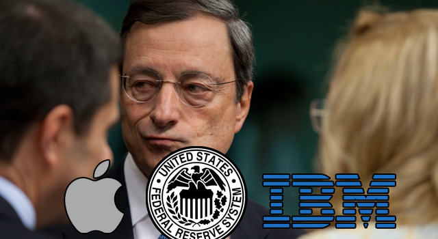 All Eyes on Fed, Apple; IBM Drags