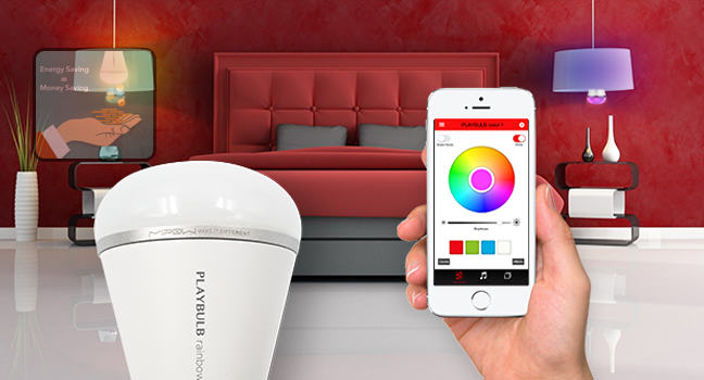 Playbulb rainbow: stylish smart LED bulb with rainbow color effect