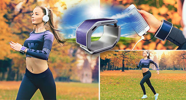 Solarhug bracelet: An ecological external charger