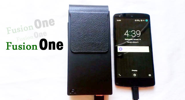 The Fusion One: wearable charging holster