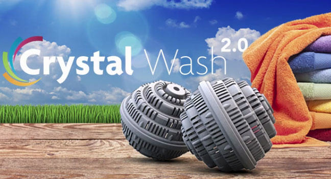 Crystal Wash 2.0: Easy natural laundry without detergents