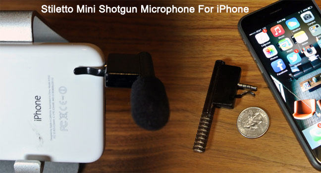 The Stiletto: A mini shotgun mic for iPhones