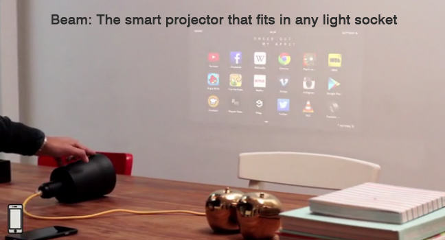 The Beam: an easy to use smart projector