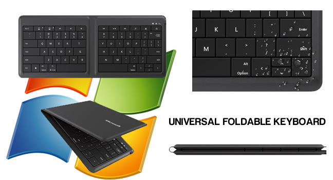 Microsoft's universal foldable keyboard: work easily while travelling